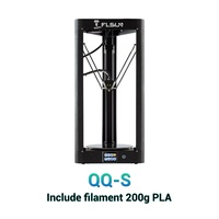 2019 Flsun Kossel Delta 3d принтер с подогревом кровать предварительно сборка 32 бита материнская плата сенсорный Titan extrtuder 3d принтер QQ-S