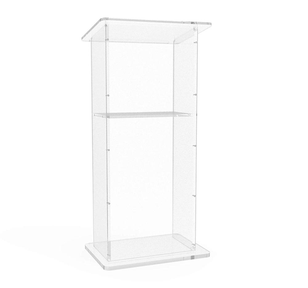 Acrylic Lectern Podium With Shelf Clear  Perspex Church  Lucite  Podium Church   Pulpit