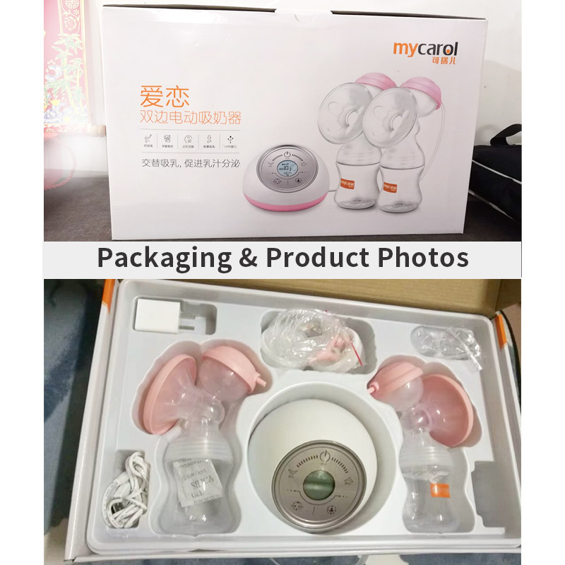 MyCarol Double Electric Breast Pump with Rechargeable Battery for Breast Feeding Made with BPA Free Material 3
