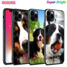 Black Silicone Case Animal Bernese Mountain Dog for iPhone 11 11Pro XS MAX XR X 8 7 6S 6 Plus 5S Gloss Phone Cover