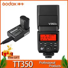 Godox TT350 Flash 1/8000s GN36 2.4G Wireless TTL HSS Mini Flash Speedlite XPro X1T for Canon Nikon Sony Fuji Olympus DSLR Camera 2x godox tt685 tt685n 2 4g wireless hss 1 8000s i ttl camera flash speedlite xpro n ttl trigger for nikon dslr camera