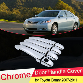 for Toyota Camry Daihatsu Altis XV40 2007 2008 2009 2010 2011 Luxuriou Chrome Door Handle Cover Trim Car Set Styling Accessories image