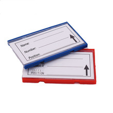 Plastic Item Commodity Label Tag Tab Sign Name Card Holders for Warehouse Storage Shelf with Soft Strong Magnetic on Back 20pcs