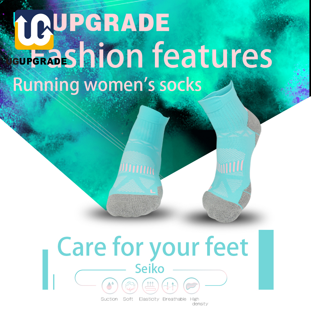 UP GRADE Women Running Sock Professional Sport Riding Socks Basketball Badminton Hiking Racing Cycling Socks Calcetines Ciclismo