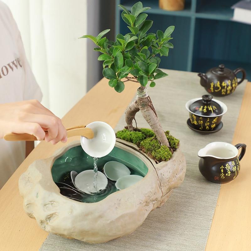 Stoneware large tea wash old rock mud multifunctional water wash flower pot fish tank pen tea bowl tea set