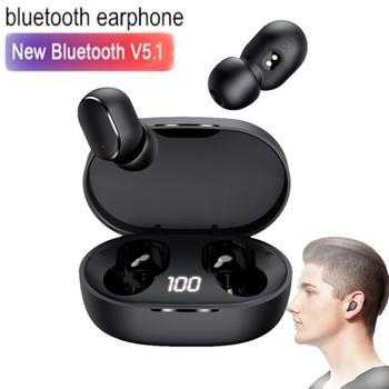 TWS E6S słuchawki bezprzewodowe słuchawki Bluetooth V5 1 słuchawki z mikrofonem sportowe słuchawki z redukcją szumów dla Xiaomi Redmi tanie i dobre opinie cuimeng Zaczepiane na uchu Dynamiczny CN (pochodzenie) Prawdziwie bezprzewodowe 98dB Słuchawki do monitora Do gier wideo