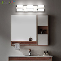 Modern Bathroom Vanity Lights Over Mirror 3 Lights Acrylic Stainless Steel Bath Wall Lighting