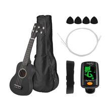 Ukulele Combo acajou 21 pouces, Soprano Gecko Uke 4 cordes, Mini guitare hawaïenne avec Kits d'instruments de musique