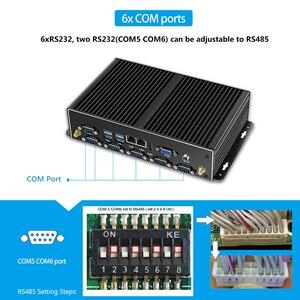 Image 4 - Fanless Mini PC Dual LAN 6*COM Core i7 5500U i5 4200U Celeron J1900 2955U Mini Computer Industrial PC Windows HDMI 8USB 6*RS232