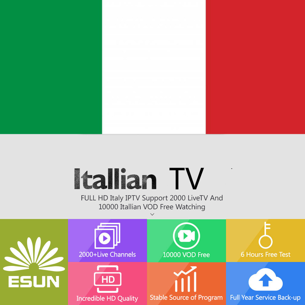 4000channels+Vod Italy IPTV Europe IPTV V88 Android Box Support Android M3u Enigma2  Include XXX Channels