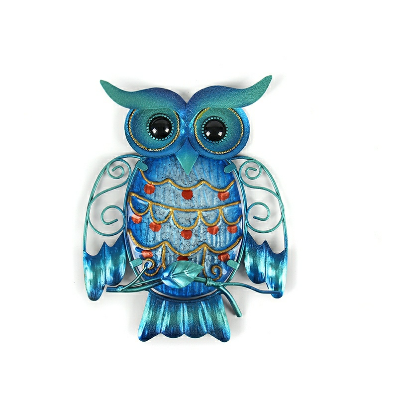 Christmas Gift Metal Owl Wall Animal Miniatures Garden Decoration Outdoor Statues And Accessories Sculptures
