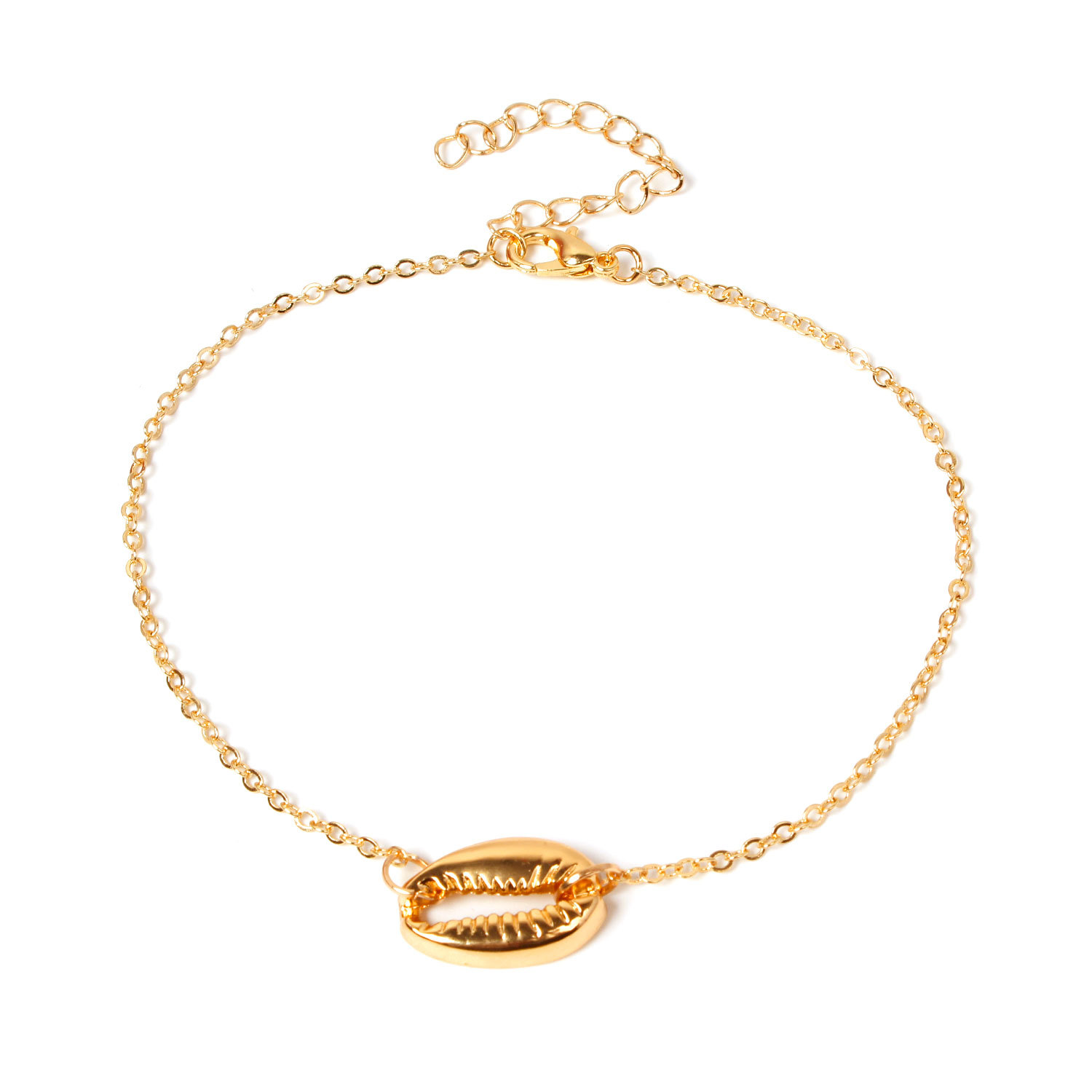 Fashion New Gold Silver Color Metal Shell Foot Chain Anklets Pendant Bohemian Summer Beach Adjustable Anklet Bracelet Jewelry