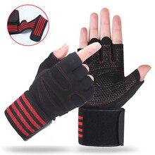 Перчатки для тренировки в спортзале с поддержкой запястья для мужчин и женщин Кроссфит фитнес упражнения Powerlifting equipment мужские т перчатки