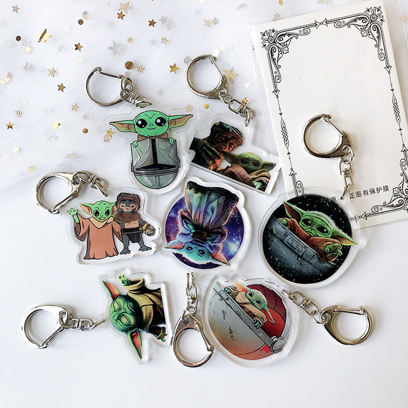 Jedi Master Yoda Keychain Cute Star Wars The Rise Of Skywalker Keyring Men Women Fashion Anime Jewelry Key Chain Gift Toys