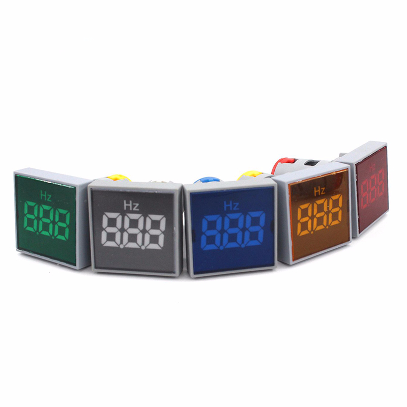 LED AC Digital Display Frequency Square Panel Hertz Meter Voltmeter Indicator Light Signal Lamp Boat Warning Lights Range 0-99Hz