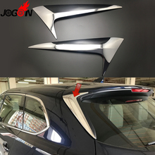 لمازدا CX 9 CX9 2017 2018 سيارة الزجاج الأمامي الخلفي المفسد الذيل الزجاج الأمامي الجناح غطاء تريم ملصق لامع الفضة ABS الكروم