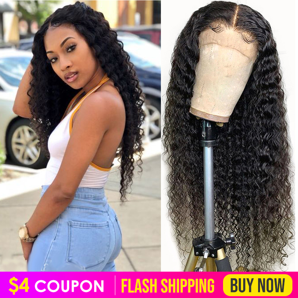 Deep Wave Lace Front Human Hair Wigs Pre Plucked Wig 13x4 8-26 Inch Virgo 150% Peruvian Remy Human Hair Lace Frontal Wigs