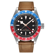 все цены на Corgeut Luxury Brand Watch 41MM Mechanical men Watch sapphire GMT Men Automatic self-wind Military Sport calendar Clock Leather онлайн