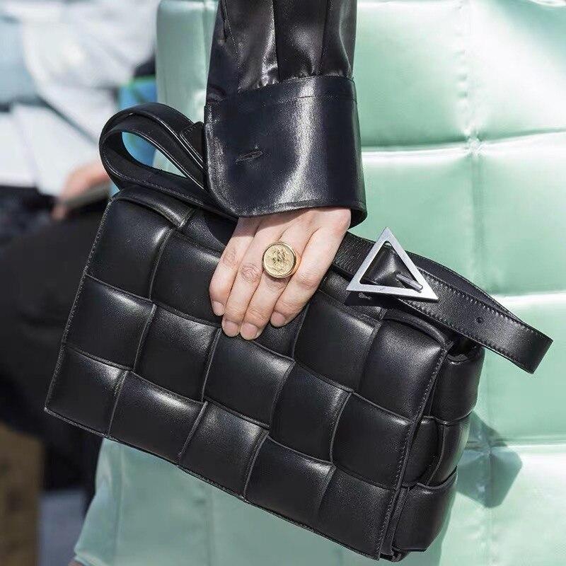 Luxury Handbags Women Bags Designer Knit Real Genuine Leather Shoulder Bag Women Messenger Bag Cowhide Woven Purses And Handbags