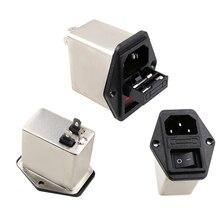 10 А мощность EMI фильтр CANNY WELL EMI с кулисный переключатель и разъем
