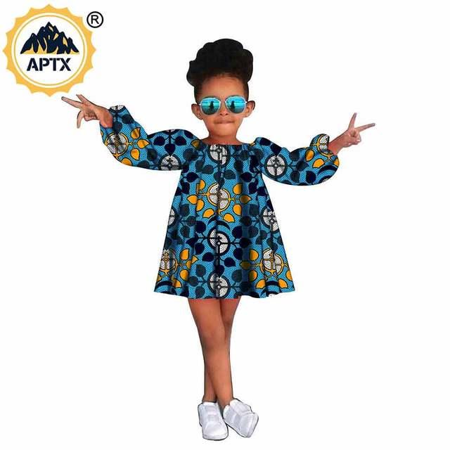 Африканская одежда для детей красивое ТРАПЕЦИЕВИДНОЕ ПЛАТЬЕ