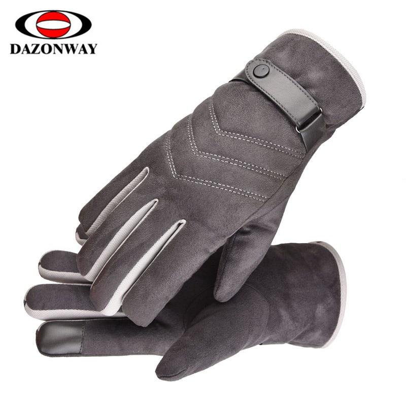 One Size Winter Warm Gloves Men Ski Gloves Snowboard Gloves Motorcycle Riding Winter Touch Screen Snow Windstopper Gloves Black