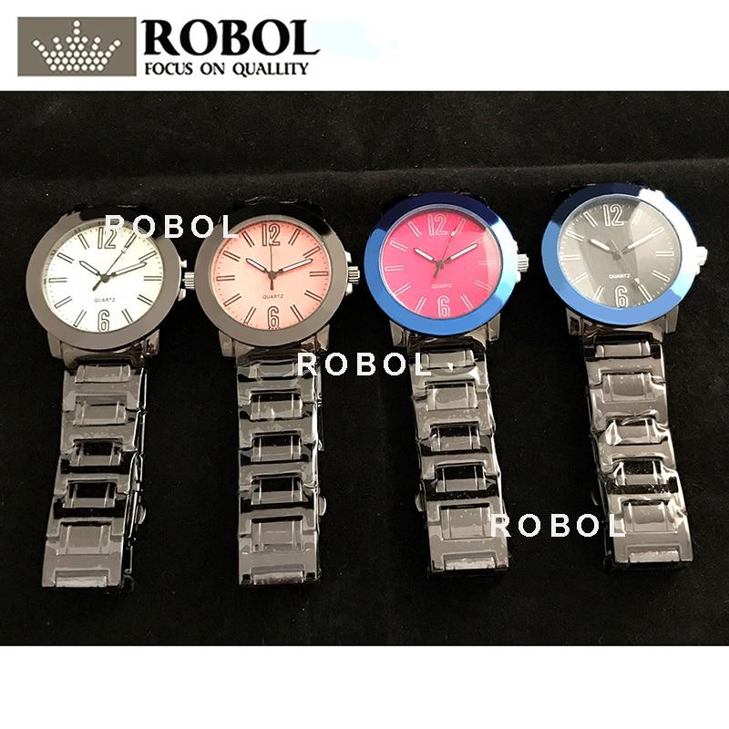 RLLEN Stainless Steel Men Women Couples Quartz Watches Fashion Luxury Jewelry Gift Precision Temperament  Original Copy Jewelry