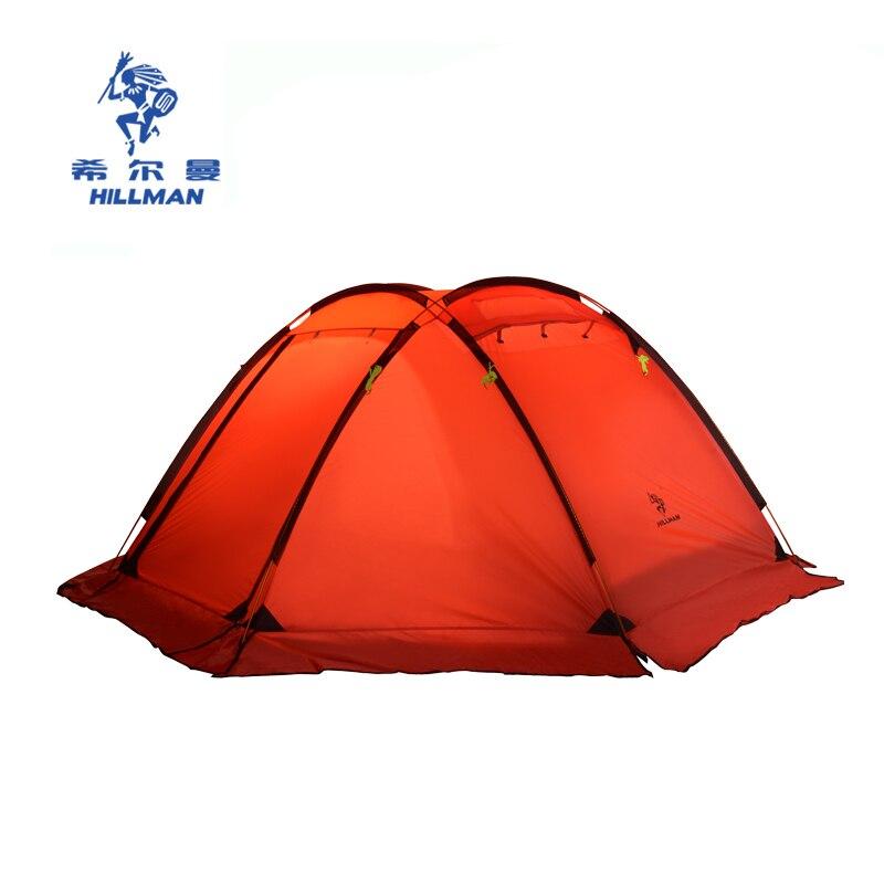 Nouveau ultra-léger 3-4 personnes de haute qualité famille fête tentes en aluminium pôles étanche en plein air camping tente avec jupe de neige