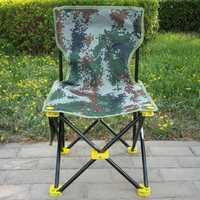 Kursi Lipat-silla plegable para exteriores, taburete de pesca, para acampar