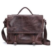 Men Genuine Leather Briefcase Bag Men's Shoulder Bag Soft Leather Men's Hand Bag Crossbody Bag Bolso Hombre Bolsa Masculina 2020
