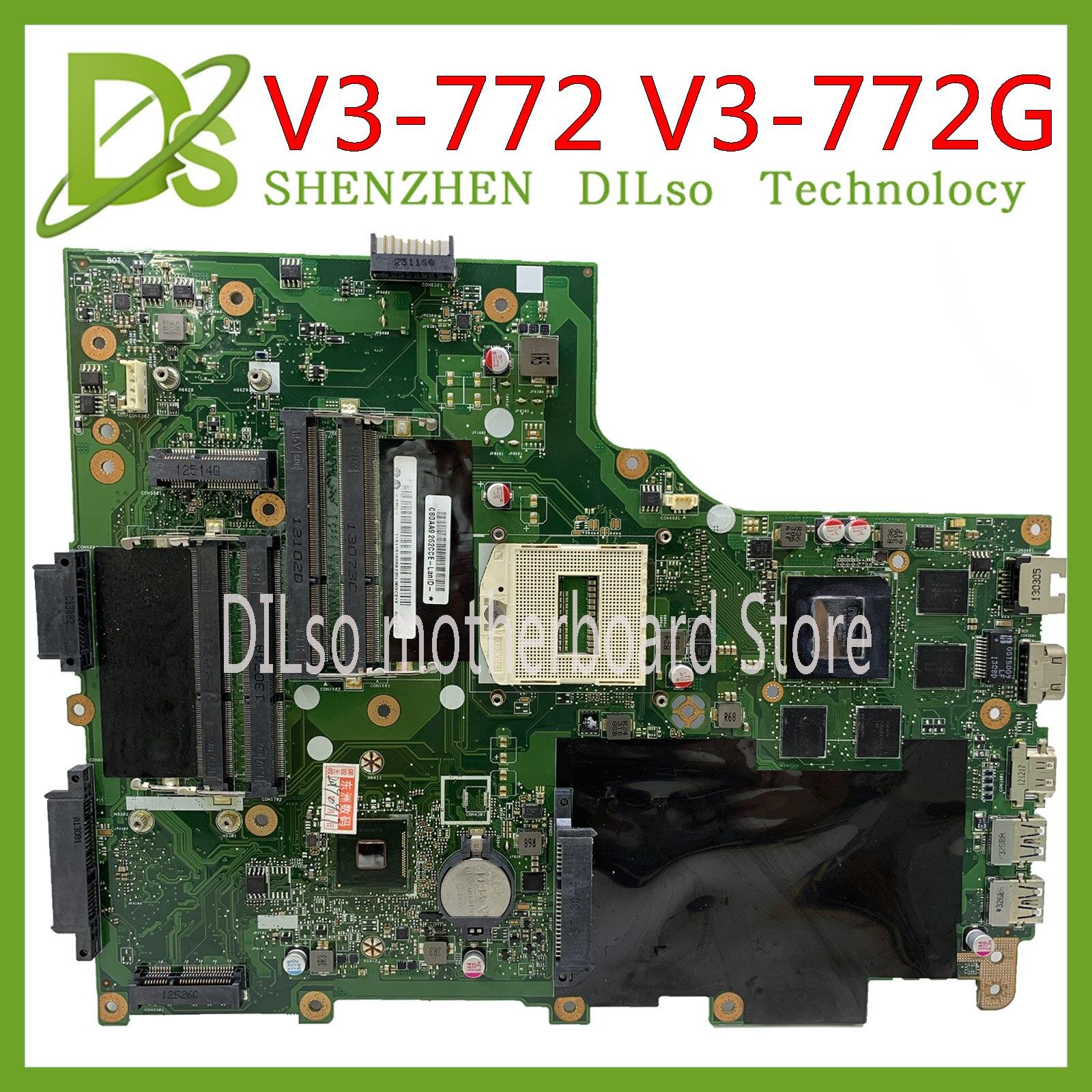 KEFU V3-772G Motherboard FOR ACER Aspire V3-772 V3-772G E1-772G Laptop Motherboard  EA VA70HW GT750M Tested Original Work