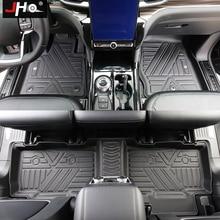 JHO 자동차 고무 바닥 매트 카펫 커버 포드 탐색기 2020 2021 자료 제한 XLT 플래티넘 ST 인테리어 액세서리