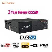 цена на 1080P Full HD GT media V9 Super Europe Cline for 3 Years Satellite TV Receiver H.265 WIFI Same DVB-S2 GTmedia V8 NOVA Receptor