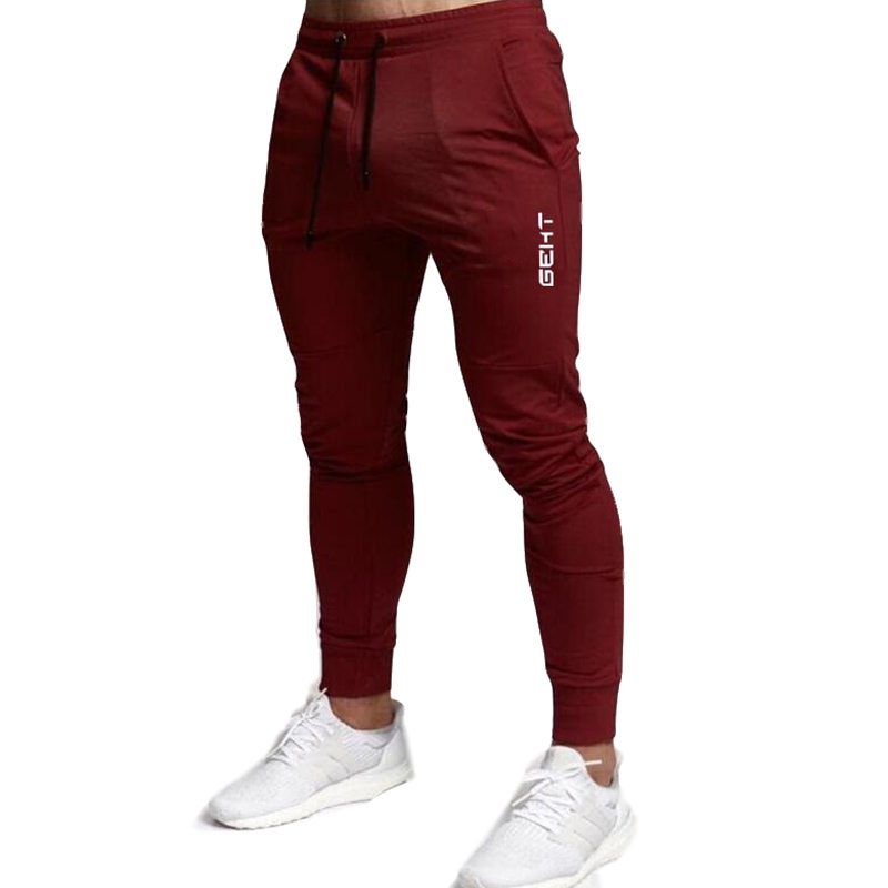 2019 Casual Skinny Pants Mens Joggers Sweatpants  Fitness Workout Brand Track pants New Autumn Male Fashion  Trousers 2