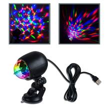 Lámpara LED RGB de bola de cristal para iluminación de escenario, proyector láser de luces de fiesta para coche, discoteca, DJ, 1 ud.