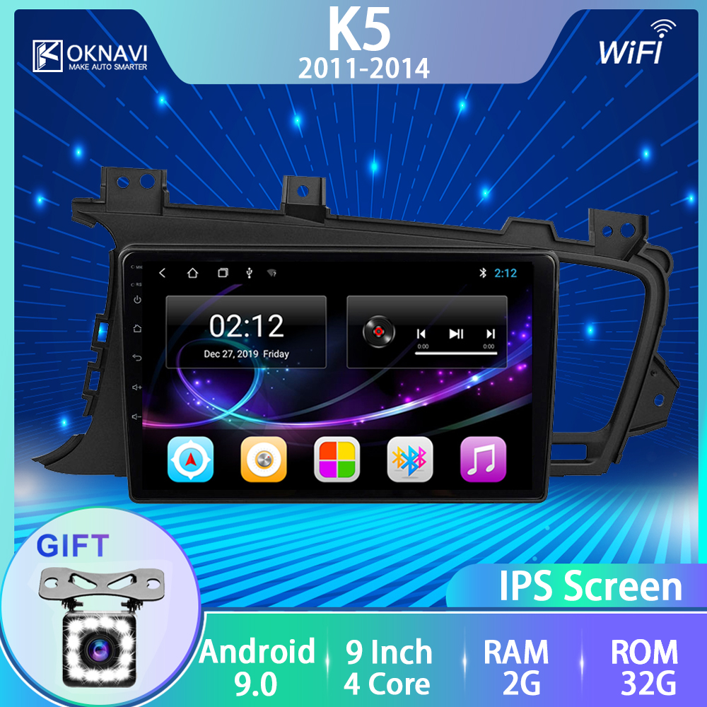 OKNAVI Für Kia K5 Optima 2011 2012 2013 2014 2015 Auto GPS Navigation Kein 2 Din Radio Android 9,0 Navi multimedia IPS Touchscreen