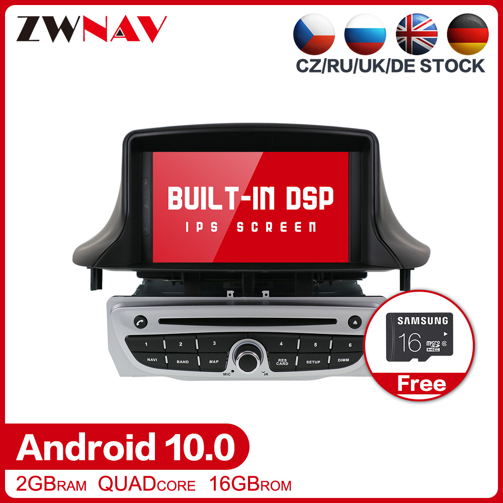 Android 10.0 Car Stereo Multimedia Player <font><b>GPS</b></font> Glonass Navigation for Renault <font><b>Megane</b></font> 3 Fluence 2009-2015 Video Radio BT head unit image