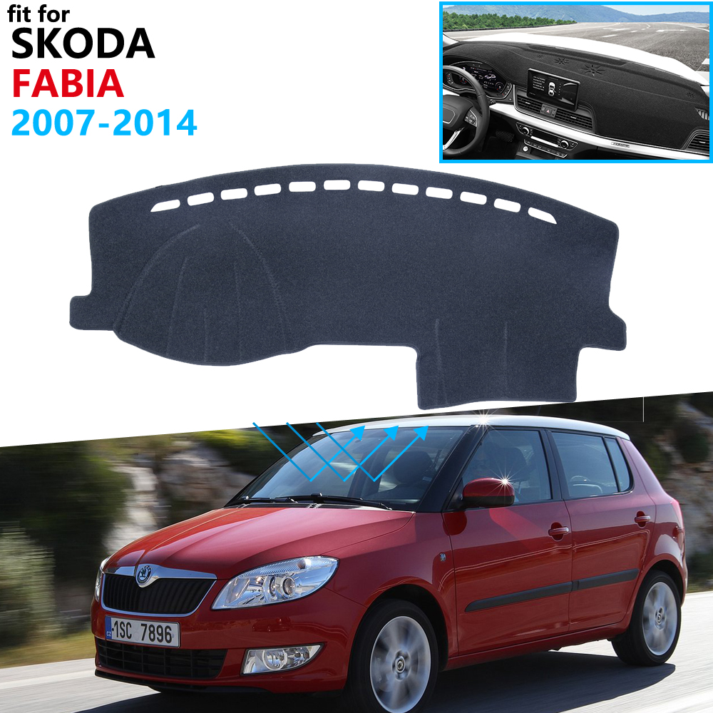 Dashboard Cover Protective Pad For Skoda Fabia 2 5j 2007~2014 Car Accessories Dash Board Sunshade Carpet 2010 2011 2012 2013