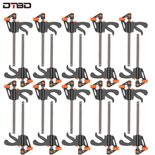 20pc 4 Inch Clip Quick Ratchet Release Speed Squeeze Wood Working Work Bar F Clamp Clip Kit Spreader Gadget Tools DIY Hand Tool