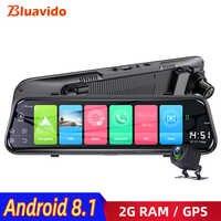 Bluavido 4G Android 8,1 Auto Spiegel Video Recorder GPS Navigation ADAS Rückspiegel Kamera FHD 1080P Dual objektiv Dash Cam DVRs