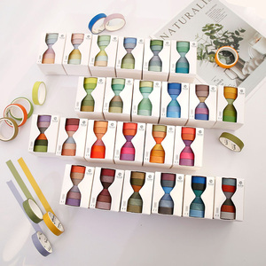 6 Pcs/Set Cute Solid Color Washi Tape Label Masking Tape Kawaii Decorative Adhesive Tape For Stickers Scrapbooking Japanese Tape