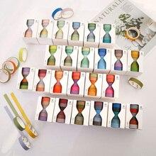 6 pçs/set bonito cor sólida washi fita adesiva etiqueta fita adesiva kawaii decorativo para adesivos scrapbooking japonês fita