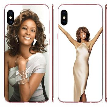 Soft TPU Cases Cover For Sony Xperia Z Z1 Z2 Z3 Z4 Z5 compact Mini M2 M4 M5 T3 E3 E5 XA XA1 XZ Premium Whitney Houston Pattern image