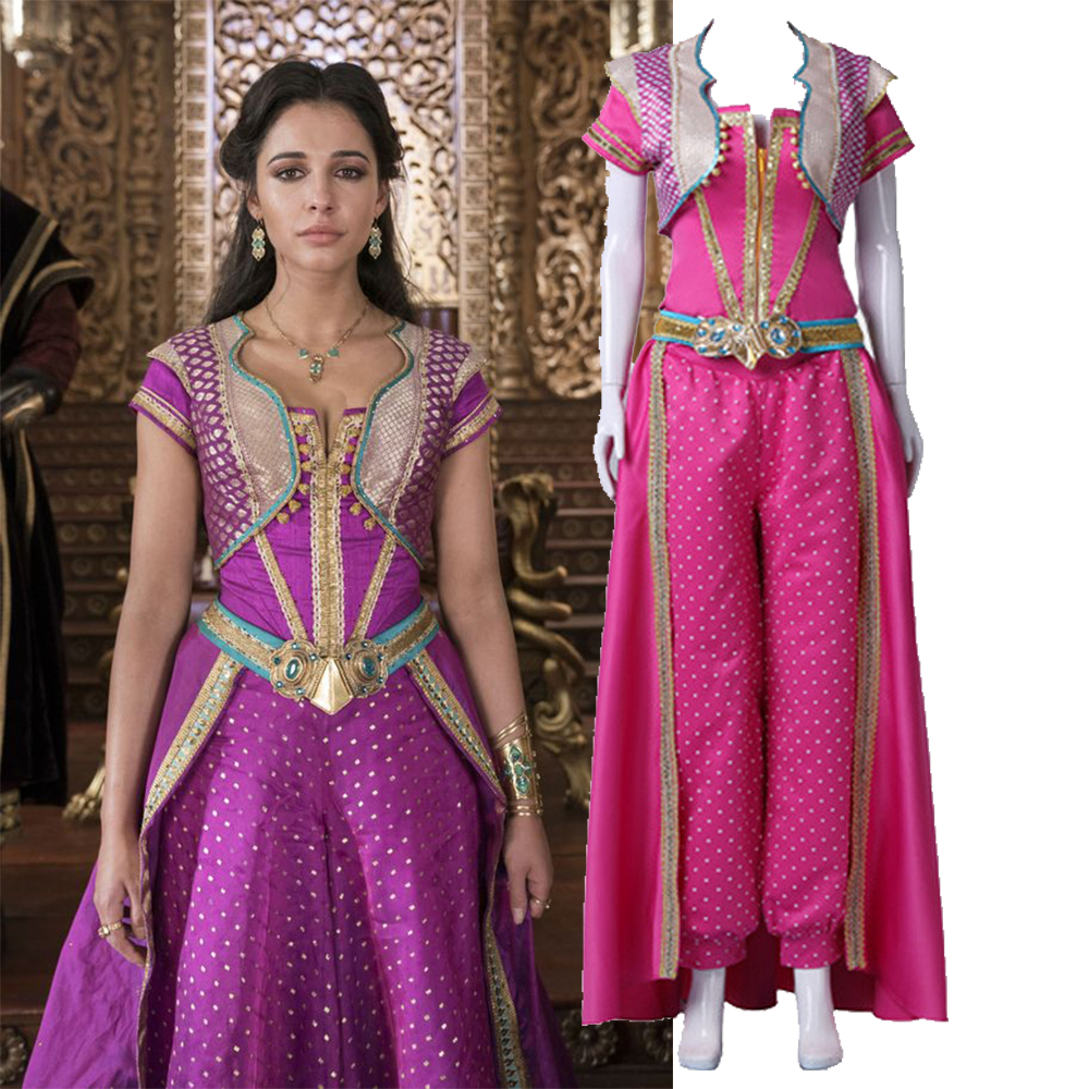 Pelicula Porno Party princess jasmine costumes,2019 movie aladdin lamp csoplay costume for adult women girls party halloween costumes fancy outfit