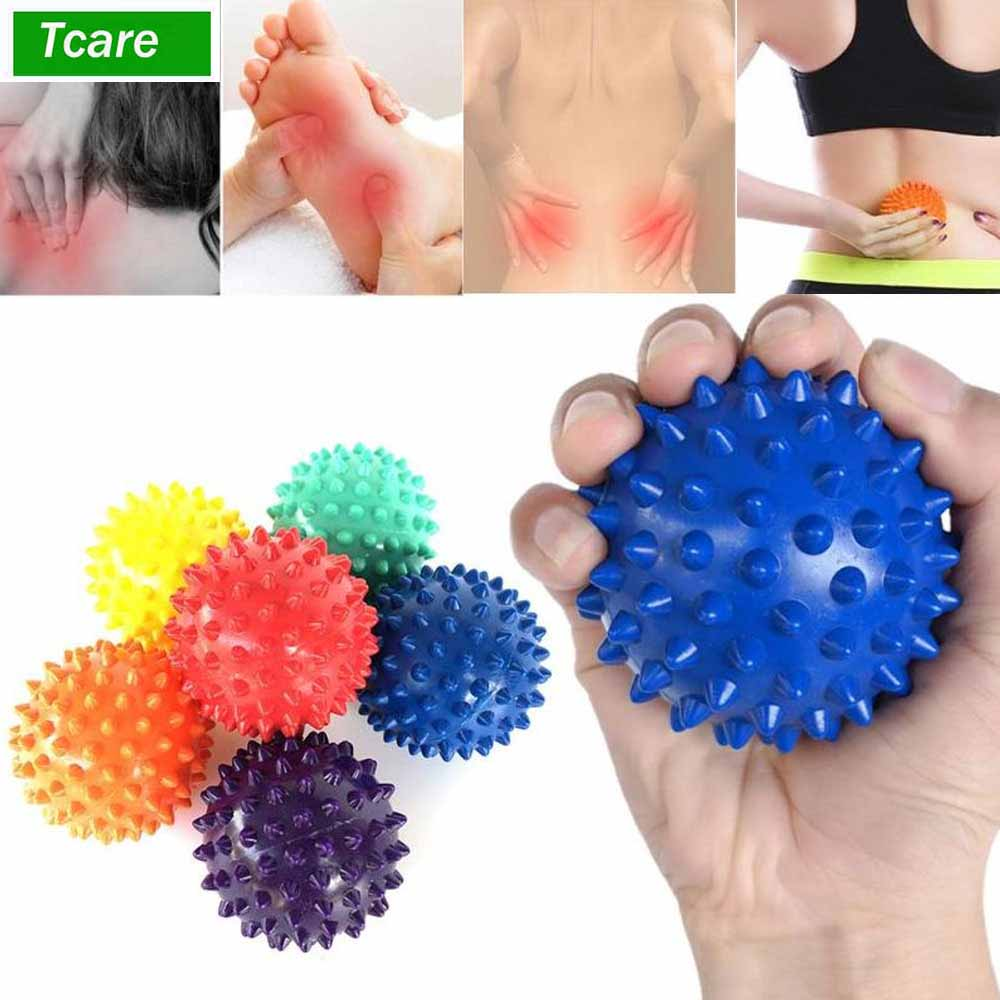 1Pcs Body Massage Relaxation Yoga Massage Ball - Spiky For Deep Tissue Back Foot Massager Plantar Fasciitis Muscle Therapy