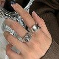 Foxanry минималистский 925 Серебряные кольца для женщин Новая Модная креативная волна геометрический Элегантный Свадебная вечеринка, ювелирны...