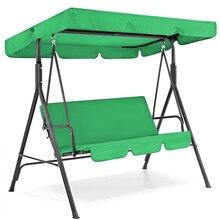 Patio Swing Cover Set Waterproof Swing Canopy Seat Top Cover Swing Seat Cover Swing Canopy For Garden Patio Swing
