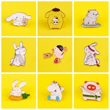 Enamel Pins Custom Cartoon Rabbit/Bears Child Boy Girl Metal Brooch Badge on Clothes Jeans Jewelry Gift Decor for Friends