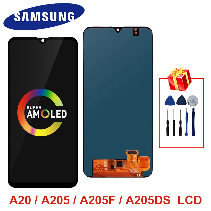 Super AMOLED For Samsung A20 A205 <font><b>SM</b></font>-<font><b>A205F</b></font> LCD Display Screen Replacement Parts For Samsung Galaxy A20 A205 <font><b>A205F</b></font> display image