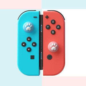 Image 4 - 4pcs Cute Cat Paw Claw Thumb Stick Grip Cap Joystick Cover For Nintend Switch Lite NS Joy Con Controller Gamepad Thumbstick Case